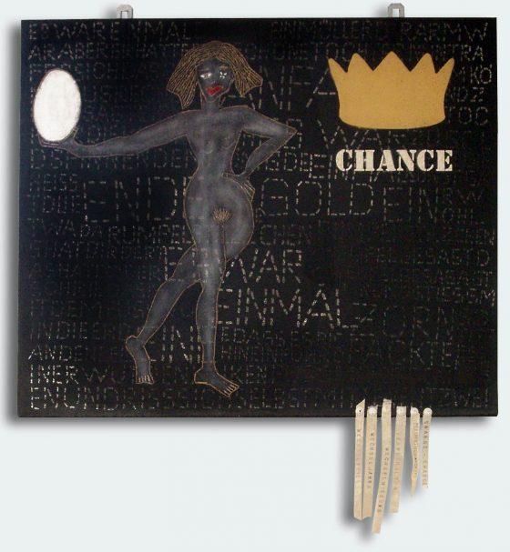 """Bild Helga Schager """"Change - Chance"""", 49,5 x 60 cm, 2006"""