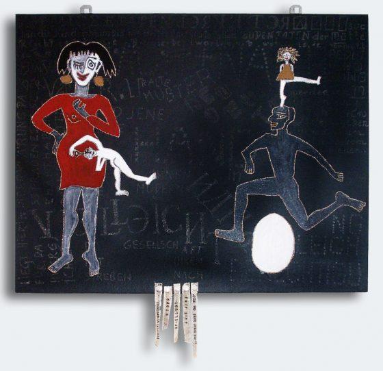 """Bild Helga Schager """"Schraube locker?"""", 49,5 x 60 cm, 2006"""