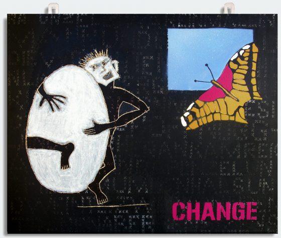 """Bild Helga Schager """"FRAGILE oder zart beseitet"""", 49,5 x 60 cm, 2006"""