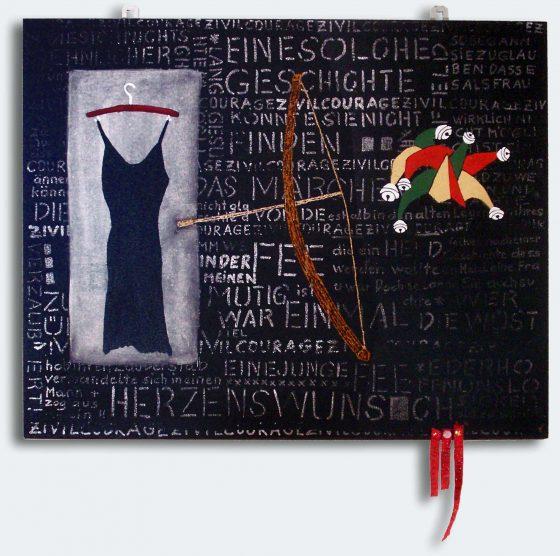 """pfeilgerade"", 49,5 x 60 cm, 2006"