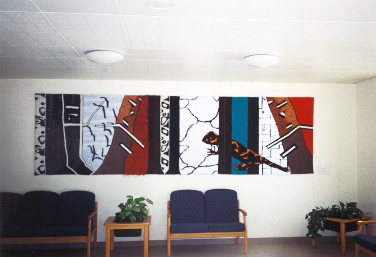 "GOBELIN - Titel: ""SALAMANDER"", 130 x 450 cm, 1994"